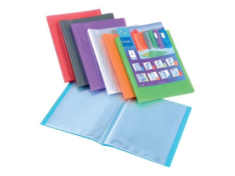 Viquel Propyglass - Porte vues personnalisable - 140 vues - A4 - disponible dans différentes couleurs