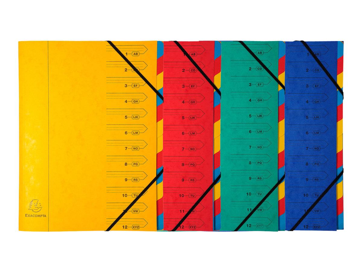 Exacompta Nature Future - Trieur agrafé 12 compartiments - disponible dans différentes couleurs