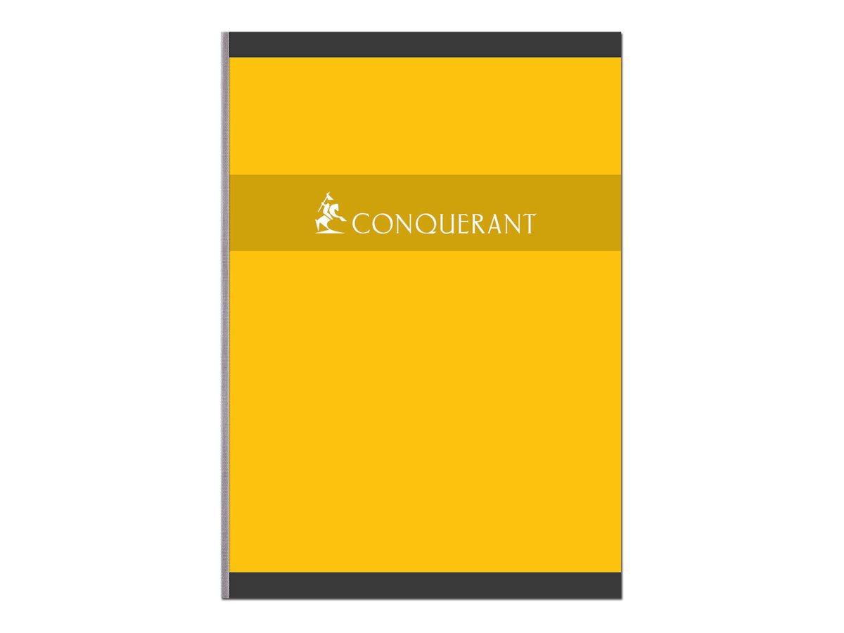 Conquérant - Cahier broché A4 (21x29,7 cm) - 192 pages - grands carreaux (Seyes) - disponible dans différentes couleurs
